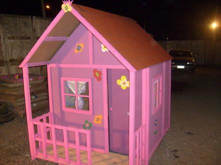 Casitas para ni os prefabricados per casas - Casita con tobogan para ninos ...